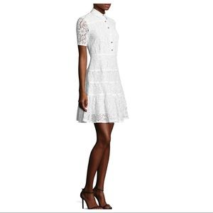 Draper James White Meadow Lace Shirt Dress